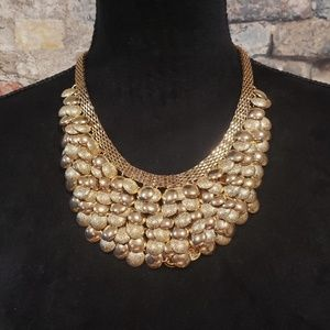 Multi layered goldtone Statement necklace with mat